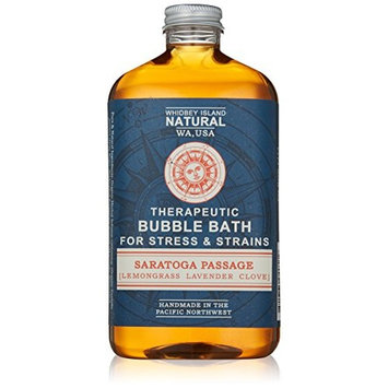 Whidbey Island Natural Bubble Bath - Saratoga Passage (Lavender Lemongrass Clove) 16 oz. Made in the Pacific Northwest, USA