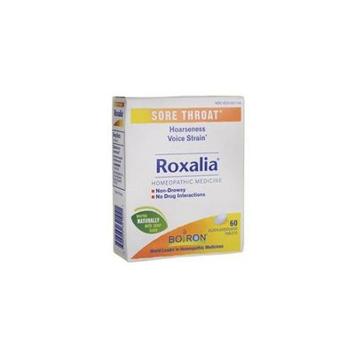 4 Pack - Boiron Roxalia Sore Throat 60 Tablets Each