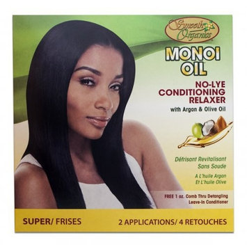 Smooth Organics Monoi Oil No-Lye Conditioning Relaxer Kit Super (2 Pack)