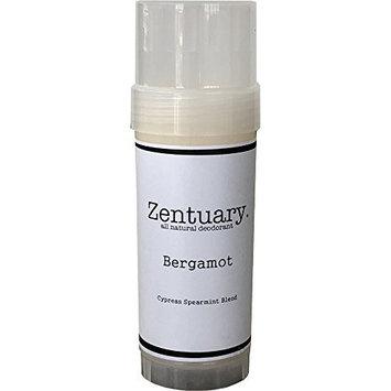 Zentuary (Bergamot) 100% All Natural Aluminum Free Deodorant for Women, Men and Kids of All Ages – Paraben, Phthalate, Gluten & Cruelty Free - Non-GMO - BPA Free 2.8 Oz Stick (Bergamot)