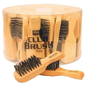 [Pack of 36] Annie Mini Club Brush Hard #2070 100% Boar With Reinforced Bristles : Beauty