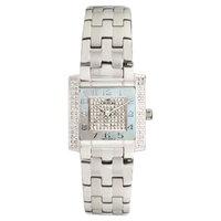 Women's Croton Stainless Steel Watch with Swiss Quartz Diamond - Silver