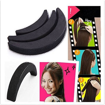 Doinshop 1 Set/3pcs DIY Hair Bumpit Volume Beehive Hair Bump Hair Pad Bangs Clips Hair Inserts Tools