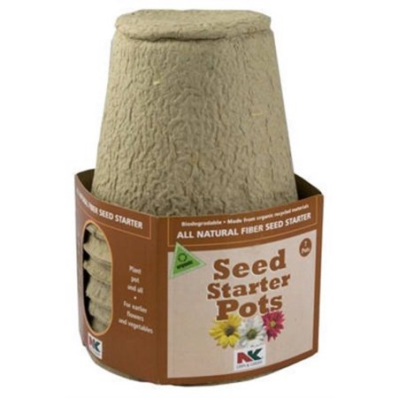 Plantation Products FR407 Round Peat Pot, 4-Inch, Pack of 7