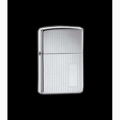 Zippo 350 High Polish Chrome Pin Stripe Lighter