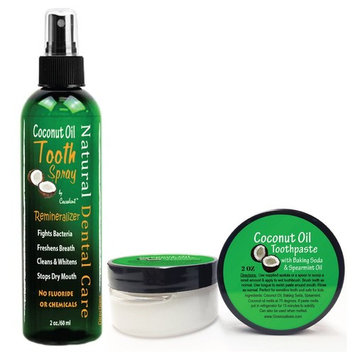 Coconut Oil & Cocoa Teeth Whitening Remineralizing Toothpaste Kit