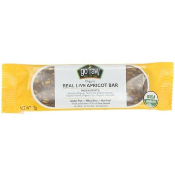Go Raw Organic Superfood Sprouted Bar, Chewy Apricot (case of 10 small bars)