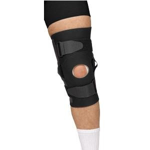 Cardinal Health Leader Neoprene Hinged Knee Support, Black, Medium Part No. 4915419 Qty 1 Each