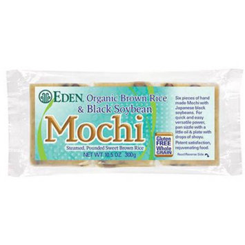 Eden Organic Eden Brown Rice & Black Soybean Mochi, Organic, 10.5 Ounce (Pack of 5)