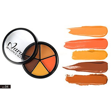 PhantomSky 5 Color Cream Concealer Camouflage Makeup Palette Contouring Kit #4 - Perfect for Professional and Daily Use