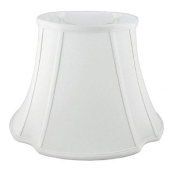 French Oval Lampshade in White