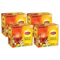 Lipton Black Tea Vanilla K-Cup Pack, 0.08 oz, 18 K-Cup Pods (4 Pack)