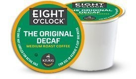 EIGHT O'CLOCK COFFEE ORIGINAL DECAF BLEND 96 K CUPS