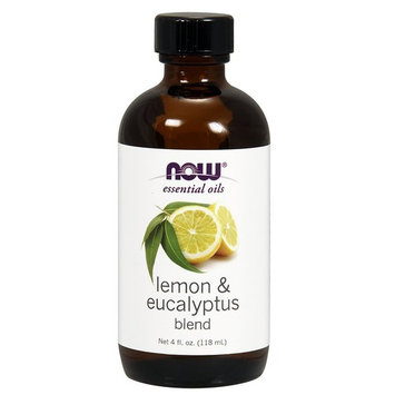 Now Solutions Lemon & Eucalyptus Essential Oil Blend, Citronella-Like, 4 Ounce