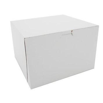 Southern Champion Tray 0966 Premium Clay Coated Kraft Paperboard White Non-Window Lock Corner Bakery Box, 9
