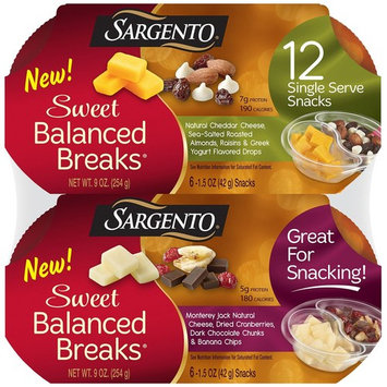 Sargento Sweet Balanced Breaks Snacks 12 ct. (pack of 6)