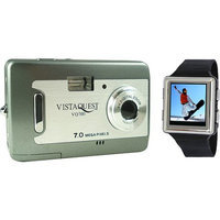 Vistaquest V700 Champagne 7 MP Digital Camera - 2.4