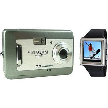 Vistaquest V700 Champagne 7 MP Digital Camera - 2.4
