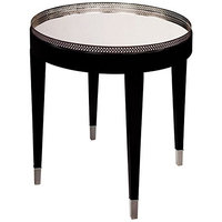 Sterling Tie Transitional Accent Table, Black