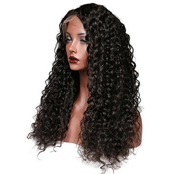 Quercy Hair 150% Density Curly 360 Lace Frontal Wig With Baby Hair Pre Plucked Hairline Curly Wigs For Women Brazilian Remy Hair