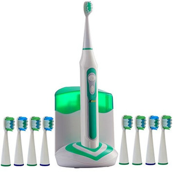 Xtech XHST-100 Oral Hygiene Ultra High Powered 40,000VPM, 5 Brushing Modes, Rechargeable Electric Ultrasonic Toothbrush with Charging Dock & Built-in UV Sanitizer, Includes 9 Brush Heads
