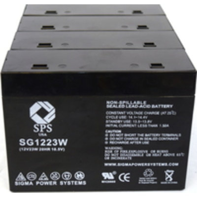 SPS Brand 12 V 5 Ah (Terminal T1T2) 1223W Replacement battery for CSB HC1217W (4 PACK)