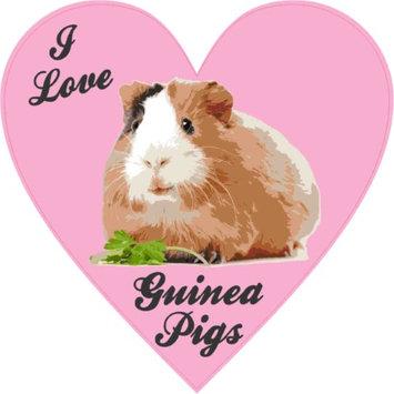 Stickertalk 4in x 4in Heart I Love Guinea Pigs Bumper Sticker Vinyl Cup Decal Stickers