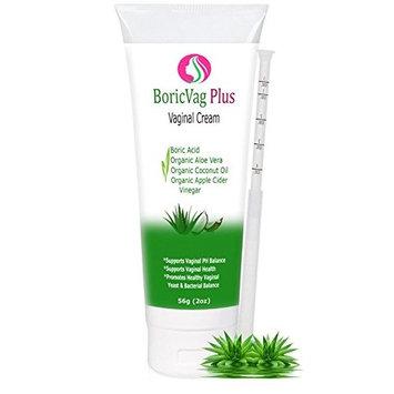 Boric Acid Vaginal Cream with Organic Aloe Vera, Organic Coconut Oil & Organic Apple Cider Vinegar | Applicator Included