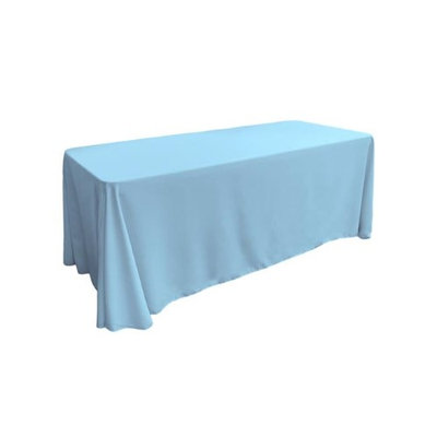La Linen Poplin Tablecloth Color: Light Turquoise