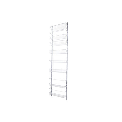 Style Selections 18-in W x 76.65-in H x 5-in D Steel Wall Mounted Shelving 45760PHDLG