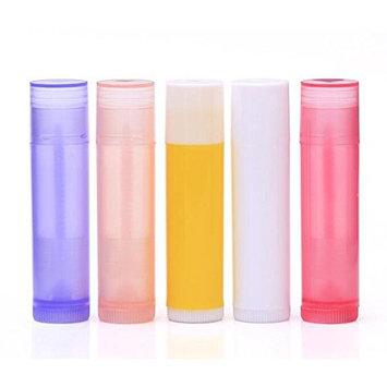 12Pcs Assorted Color 5G / 5ML Empty Refillable Plastic DIY Lip Gloss Balm Container Tube Lipstick Stick Bottle Holder