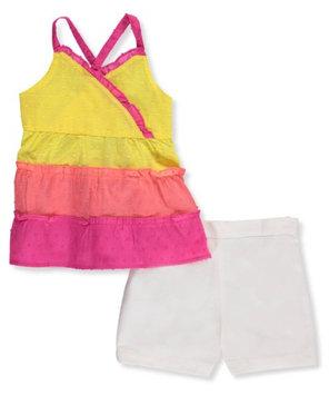 Park Bench Kids Little Girls' Toddler 2-Piece Outfit (Sizes 2T - 4T) - orange/multi, 2t