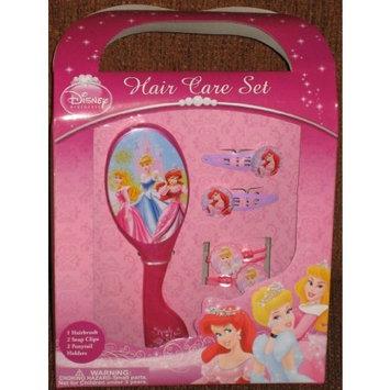 Disney Princess Girls Hair Care Set Brush Clips Ponytail Holder