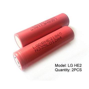 2PCS Genuine 18650 LG HE2 High Drain / 2500mAh 35A Li-Ion Rechargeable Battery