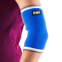 Black Mountain Products Elbow Brace Blue M Extra Thick Warming Blue Elbow Brace, Medium