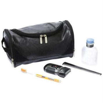 EmbassyTM Italian StoneTM Design Genuine Lambskin Leather Toiletry Bag