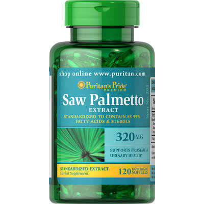 Puritan's Pride Saw Palmetto Standardized Extract 320 mg-120 Softgels