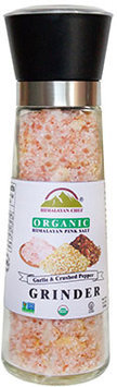 Wbm Llc Organic Roasted Garlic and Crushed Red Pepper Salt Grinder