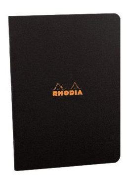 Rhodia #119169 Staplebound Notebook 8-1/4 x 11-3/4, Black Cover, Lined
