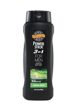 Power Stick Spring Fresh 3-1 Body Wash Shampoo and Conditioner 16 oz.