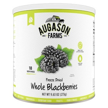 Augason Farms Gluten Free Freeze Dried Whole Blackberries - 9.63oz