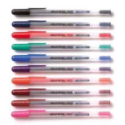 Sakura Gelly Roll Medium Point Pen Open Stock .4mm Line/.8mm Ball-Brown