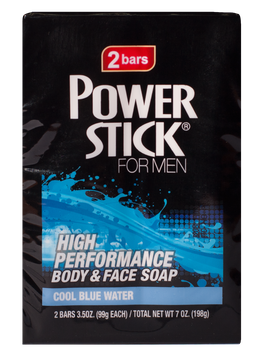 Power Stick Cool Blue Water 2 Pack Bar Soap 7 oz.
