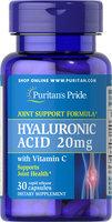 Puritan's Pride Hyaluronic Acid 20 mg-30 Capsules