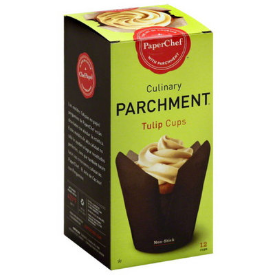 Paper Chef Culinary Parchment Tulip Cups, 12 count, (Pack of 6)