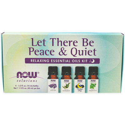NOW Foods Solutions Let There Be Peace & Quiet Relaxing Essential Oils Kit 1 Kit