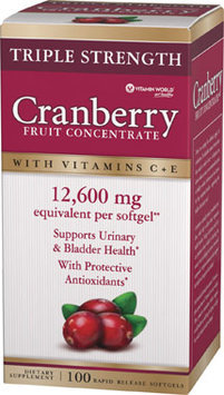Vitamin World Triple Strength Cranberry Fruit Concentrate