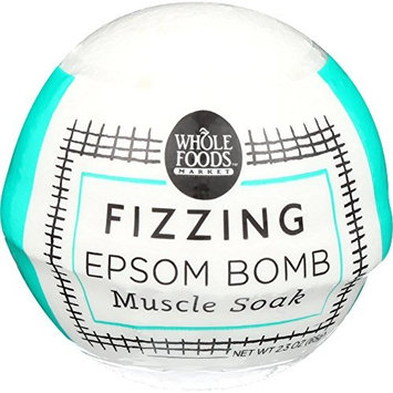 Whole Foods Market, Muscle Soak Fizzing Epsom Bomb, 2.3 oz