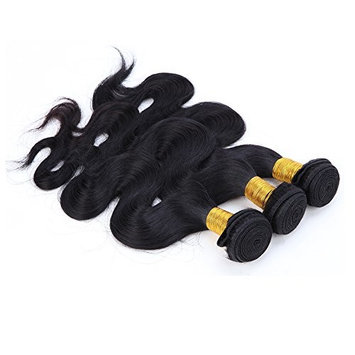 Black Hair Bundles Weft Unprocessed Brazilian Virgin Human Hair Weave Grade 7A Quality Brazilian Hair Extensions Weave Weft Thick Body Wave 18