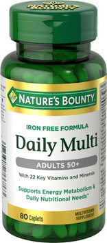 Nature's Bounty Daily Multivitamin Adults 50+ Caplets, Iron-Free, 80 Ct